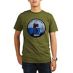 USS CHARLES J. BADGER Organic Men's T-Shirt (dark)