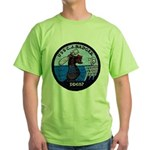 USS CHARLES J. BADGER Green T-Shirt
