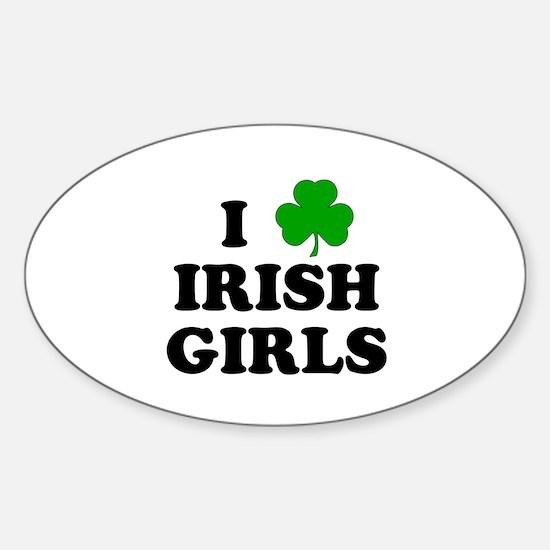 I Heart Irish Girls Sticker (Oval)