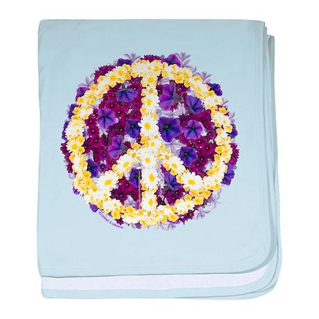 Flowers of Peace baby blanket