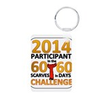 60 Scarves in 60 Days Challen Aluminum Photo Keych