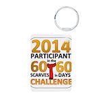60 Scarves in 60 Days Challen Aluminum Photo Keych