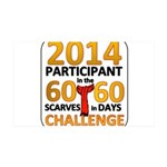 60 Scarves in 60 Days Challen 38.5 x 24.5 Wall Pee