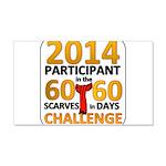 60 Scarves in 60 Days Challen 22x14 Wall Peel