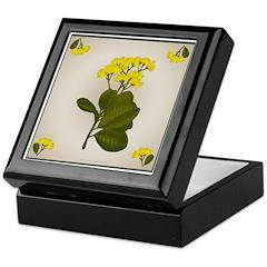 Yellow Flowers Keepsake Box