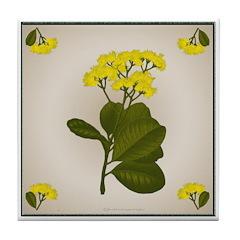 Yellow Flowers Tile Coaster
