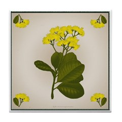 Yellow Flowers Tile Coaster