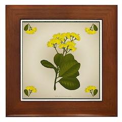 Yellow Flowers Framed Tile