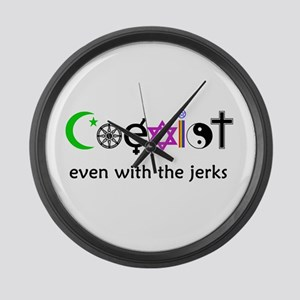Co-Exist Section Large Wall Clock