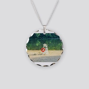Lifeguard stand at Percy Pri Necklace Circle Charm