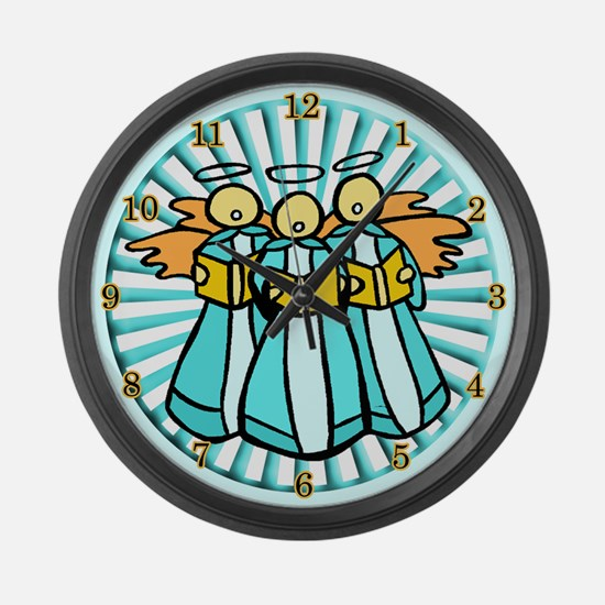 Singing Angels Large Wall Clock