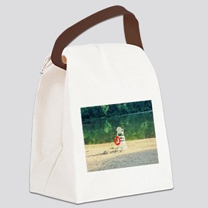 Lifeguard stand at Percy Priest l Canvas Lunch Bag