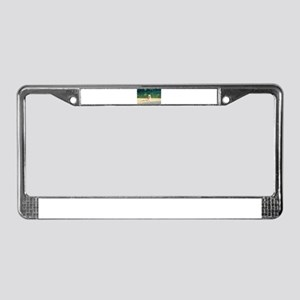Lifeguard stand at Percy Pries License Plate Frame