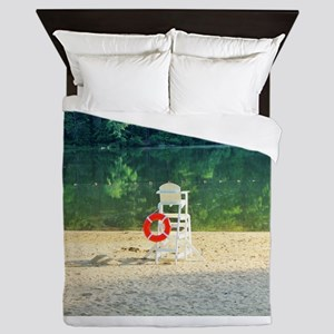 Lifeguard stand at Percy Priest lake. Queen Duvet