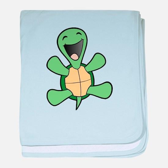 Skuzzo Happy Turtle baby blanket