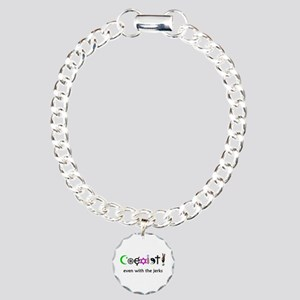 Co-Exist Section Charm Bracelet, One Charm