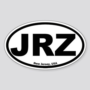 JRZ New Jersey Oval Sticker