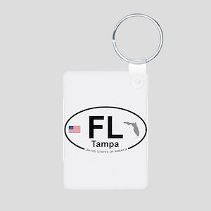 Florida City Aluminum Photo Keychain