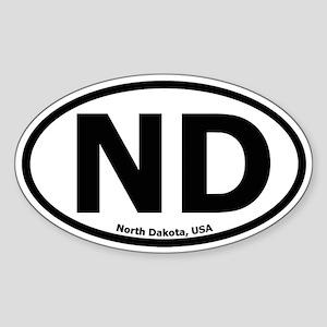 North Dakota Oval Sticker
