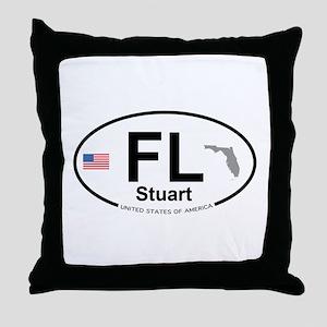 Florida City Throw Pillow