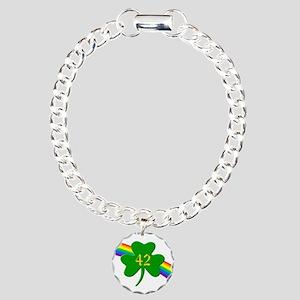 42nd Shamrock Charm Bracelet, One Charm