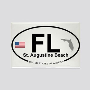 Florida City Rectangle Magnet