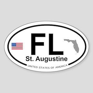 Florida City Sticker (Oval)
