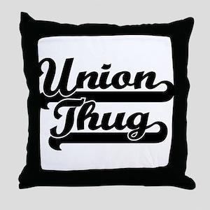 Union Thug Throw Pillow
