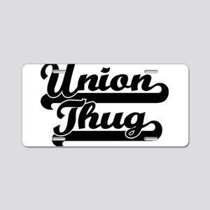 Union Thug Aluminum License Plate