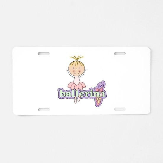 Blond Ballerina Aluminum License Plate