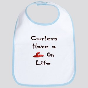 Curlers Have a Handle on Life Bib