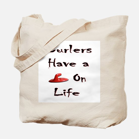 Curlers Have a Handle on Life Tote Bag