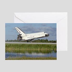 STS-86 Landing Greeting Card