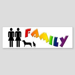 Lesbian Family Pride, Pets Bumper Sticker