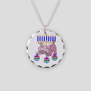 Hanukkah Dreidel Cat Necklace Circle Charm