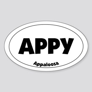 appaloosa - Oval Sticker