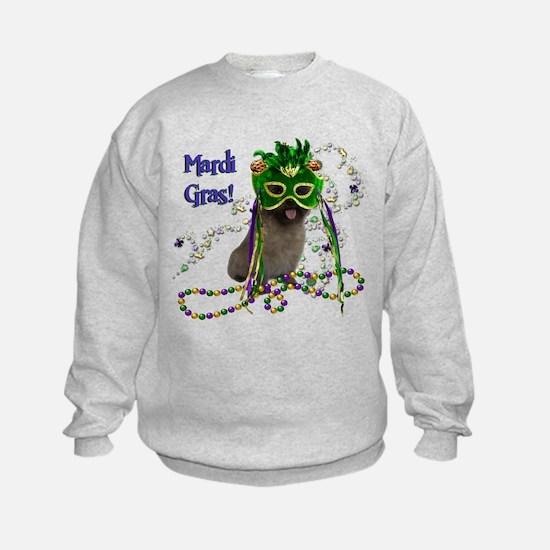 Mardi Gras Cairn Terrier Sweatshirt