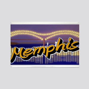 Memphis Bridge Scene Rectangle Magnet