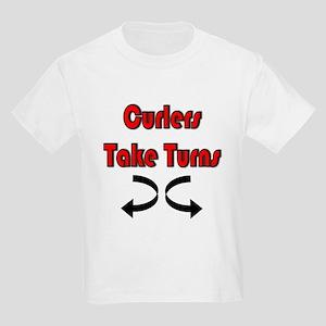 Curlers Take Turns Kids T-Shirt