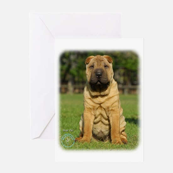 Shar Pei 9M100D-049 Greeting Card