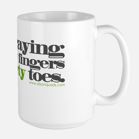 """Fingers & Toes"" Large Mug"