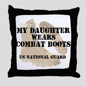 My Daughter Wears NG DCB Throw Pillow
