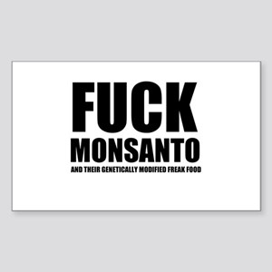 F**K MONSANTO GMO Sticker (Rectangle)