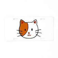 Calico Cat Cartoon Aluminum License Plate