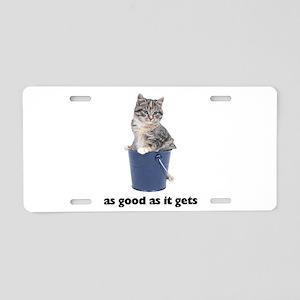 Tabby Cat Photo Aluminum License Plate