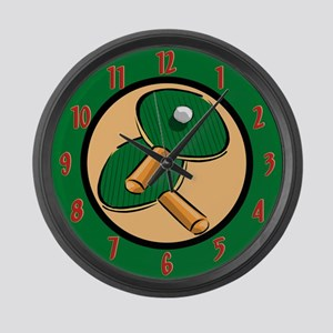 Table Tennis Large Wall Clock