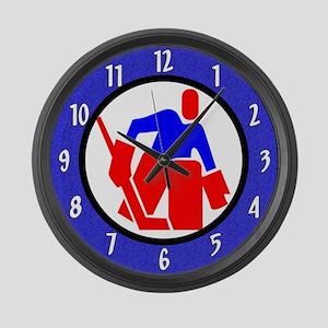 Ice Hockey Large Wall Clock