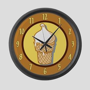 Ice Cream Cone Large Wall Clock
