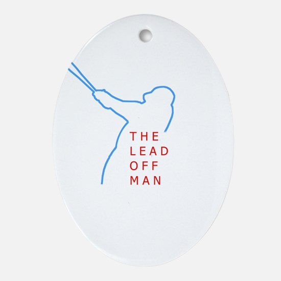 Lead Off Man Oval Ornament