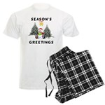 Christmas Greetings Men's Light Pajamas
